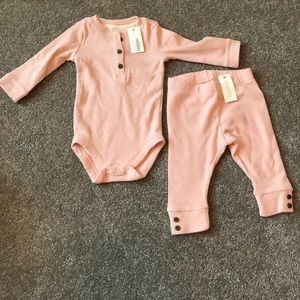 NWT Gymboree Pink Ribbed Outfit